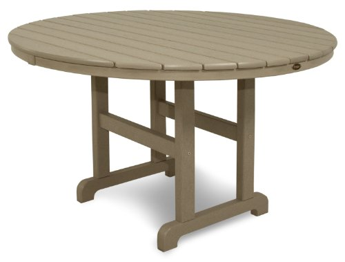 Trex Outdoor Furniture TXRT248SC Monterey Bay Round Dining Table, 48-Inch, Sand Castle