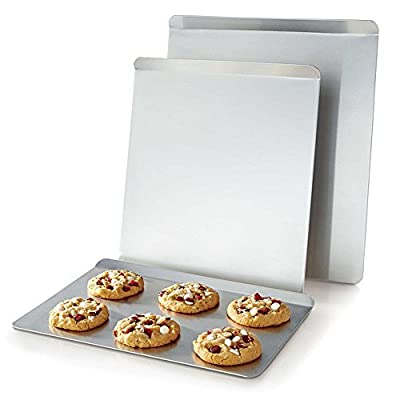 AirBake Cookie Sheet Set -- 3 Pack (Insulated Bakeware, Natural Aluminum)