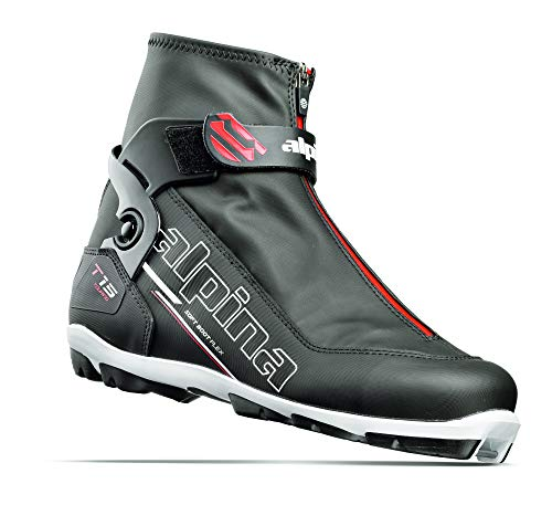 (Alpina Sports T15 Cross-Country Touring Ski Boots, Black/White/Red, Size 48)