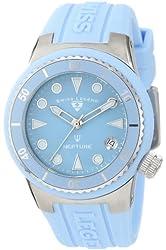 Swiss Legend Women's 11840D-012 Neptune Light Blue Dial Light Blue Silicone Watch