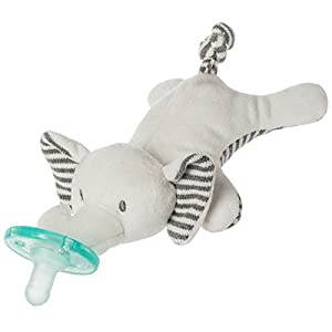Mary Meyer WubbaNub Soft Toy and Infant Pacifier, Afrique Elephant