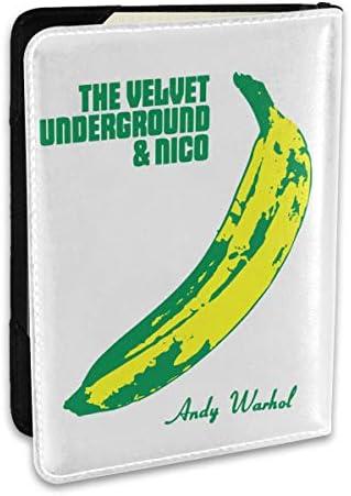 The Velvet Underground ヴェルヴェットアンダーグラウンド パスポートケース メンズ 男女兼用 パスポートカバー パスポート用カバー パスポートバッグ ポーチ 6.5インチ高級PUレザー 三つのカードケース 家族 国内海外旅行用品 多機能
