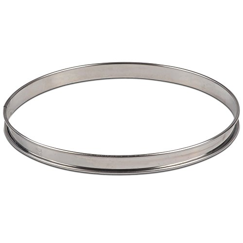 "JB Prince 9.5"" Stainless Steel Flan Ring"