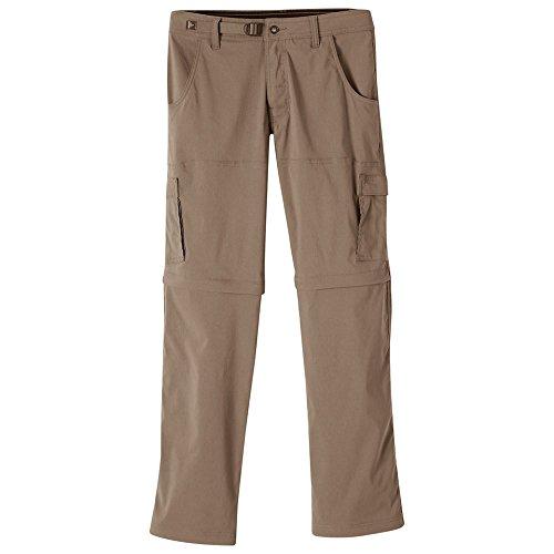 "prAna Men's Stretch Zion Convertible 32"" Pants, Mud, Size 33 -  adult"