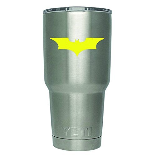 DD188Y 2- Pack Batman Begins Decal Sticker | 3-Inches | Premium Quality Yellow Vinyl | (DECAL ONLY CUP NOT INCLUDED) Yeti RTIC Orca Ozark Trail Tumbler Decal