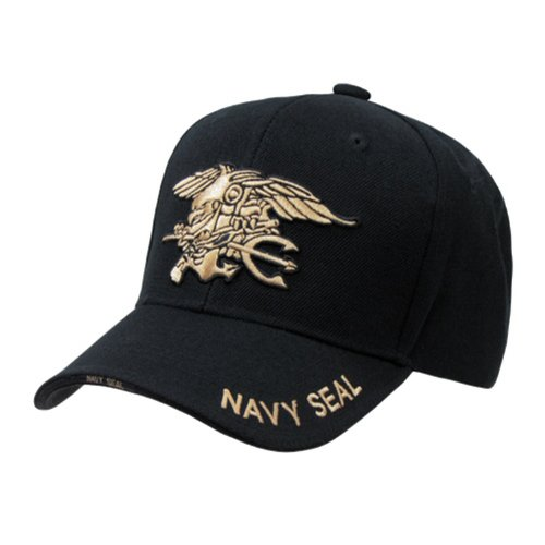 Rapid Dominance Genuine The Legend, Military Branch Caps (Adjustable , Navy Seal Black)