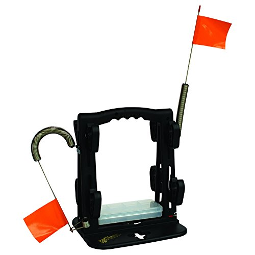 Rodmaster ice fishing tip up caddy fishing rod rack for The fishing caddy