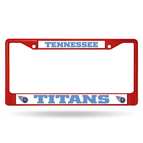 (Rico Tennessee Titans NFL Red Painted Chrome Metal License Plate Frame)