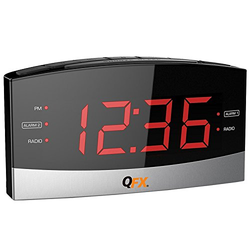QuantumFX AM/FM LED Dual Alarm Clock Radio
