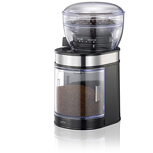Elektrische Kaffee-Mühle mit Keramik-Mahlwerk, 80g-Bohnenbehälter und 150W-Motor für Espresso, Filterkaffee, Stempelkanne und Aufguss-Methode für aromatischen Kaffee