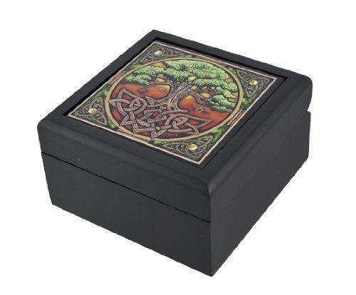 - Lisa Parker Celtic Tree of Life Art Tile Trinket Jewelry Keepsake Box