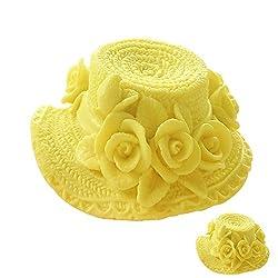 Beautiful 3D Flower Hat Molds Fondant Sugar Jelly