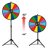 TRIPREL INC. Light Weight 24'' Diameter Spinning Convention Prize Wheel w/ 14 Segment Colored Dry Erase Slots on Adjustable Height Tripod Stand