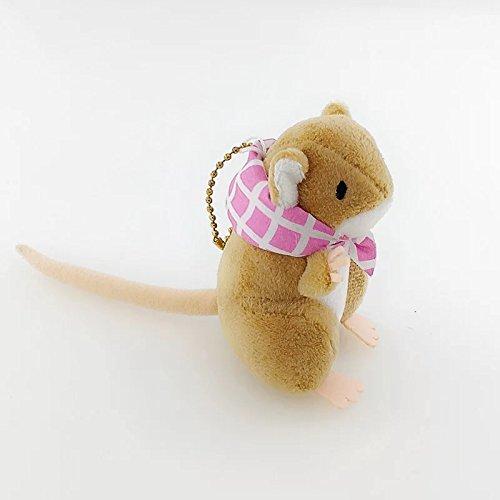 旅かえる カエル旅行 人形の可愛いストラップ 鍵チェーン萌えグッズ (鼠)