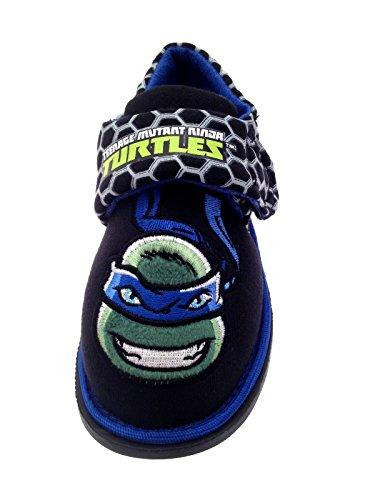 Nickelodeon-Teenage-Mutant-Ninja-Turtles-Hausschuhe - TMNT-Pantoletten für Jungen - Größe: 23 - 1 Paar Turtle Face Image - Bagged