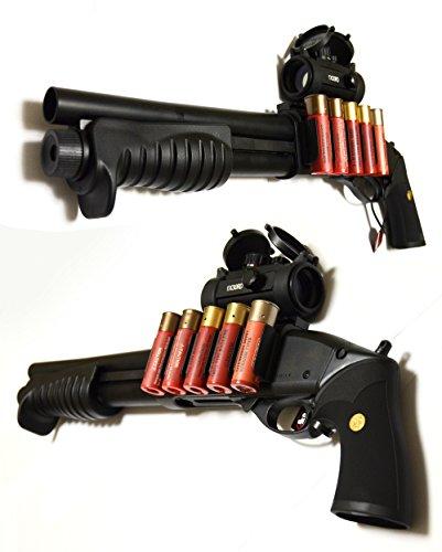 東京マルイ ガスガン M870ブリーチャー (18歳以上ガスショットガン)【付属物:ドットサイトスコープ(1×30)5段階調節可能(レッド・グリーン)+ ショットシェルホルダー+ ショットシェル型マガジン 5本 + 0.2g BB弾 (1600発入) 】