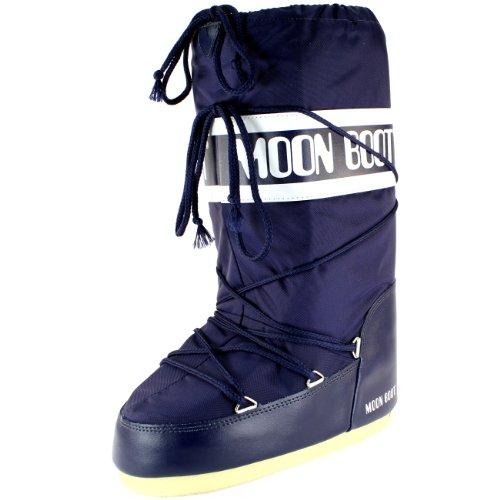 Hombres Tecnica Moon Bota Nylon Waterproof Mid Calf Nieve Winter Rain Bota Blue