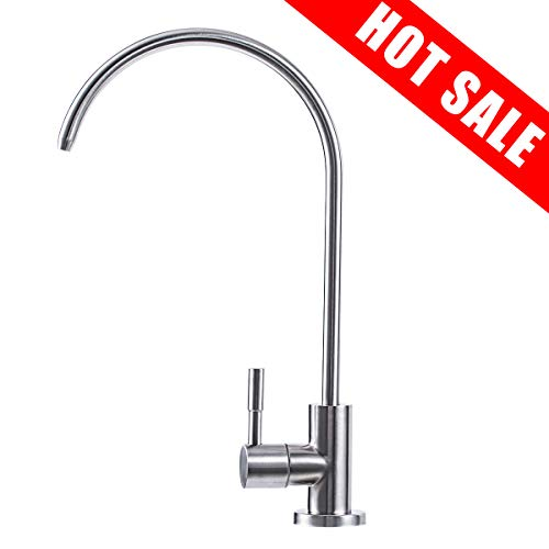 MornSail Kitchen Water Purifier Faucet 304 Stainless Steel 100% Lead-Free Drinking Water Faucet for Water Filtration Systems & Reverse Osmosis Systems, Brushed Nickel Finish, Home & Commercial