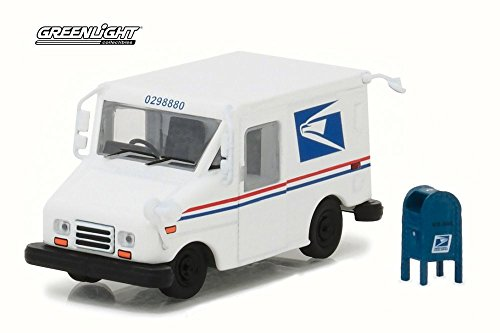 Postal Service Truck (United States Postal Service, White - Greenlight 29888-1/64 Scale Diecast Model Toy Car)