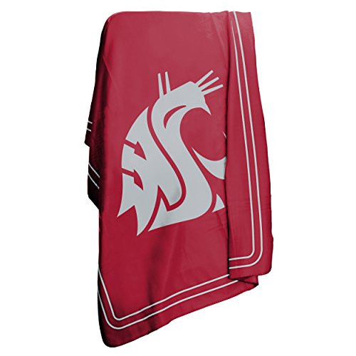 Logo Brands NCAA Washington State Cougars Classic Fleece (Washington Huskies Fleece Throw)