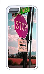 iPhone 5C Case Traffic Signs TPU iPhone 5C Case Cover White