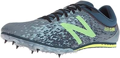 New Balance Men's mmd500v5 Track Shoes, Grey/Yellow, 8.5 D US
