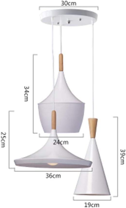 MWPO Pendiente Iluminación Interior Pendiente Luces Colgantes Lámpara de Madera y Aluminio Restaurante Bar Café Comedor Lámpara Colgante LED C: Amazon.es: Hogar