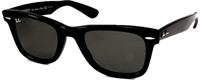black ray bans  Amazon.com: Ray-Ban RB2140 Wayfarer Sunglasses (50mm Shiny Black ...