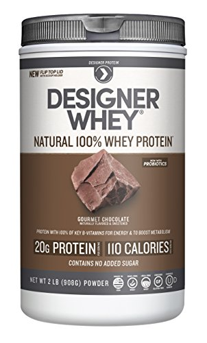 Designer Whey Premium Natural 100% Whey Protein, Gourmet Chocolate, 2 Pound (Whey Natural Protein All Powder)