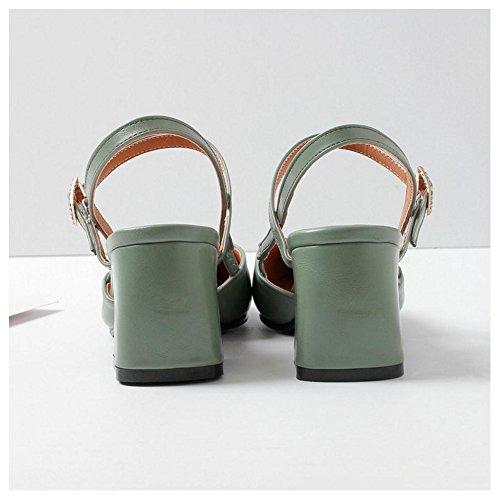 Bloc Femmes Mode green Sandales RAZAMAZA 6HwOPq