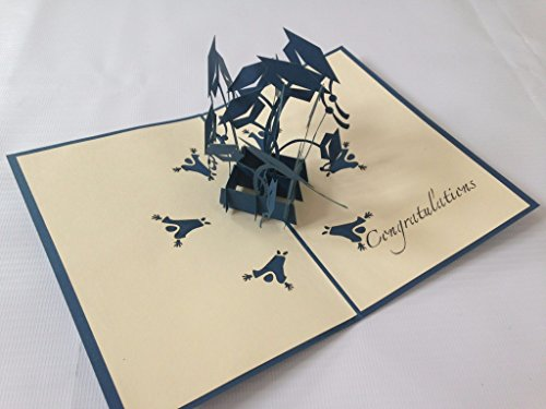 Graduation Hat Bachelor 3D Pop Up Handmade Laser Cut Vintage Cards Pet Paradise Creative Gifts Postcard Birthday Greeting Cards For Lovers