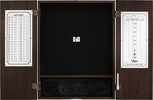 Viper by GLD Products 40-0407 Metropolitan Sisal/Bristle Steel Tip Dartboard Cabinet: Cabinet Only (No Dartboard), Espresso Finish