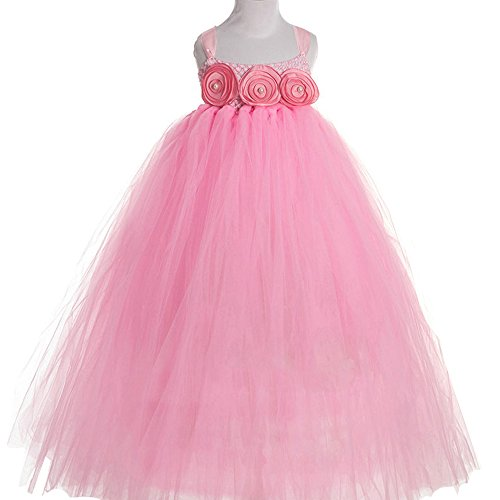 frilly pink prom dress - 3