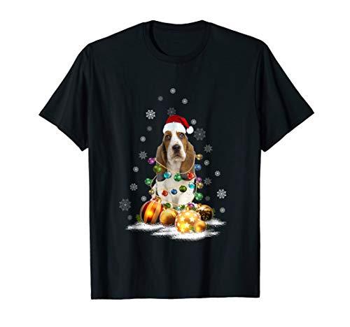 Basset Hound Christmas Dog Light T-Shirt