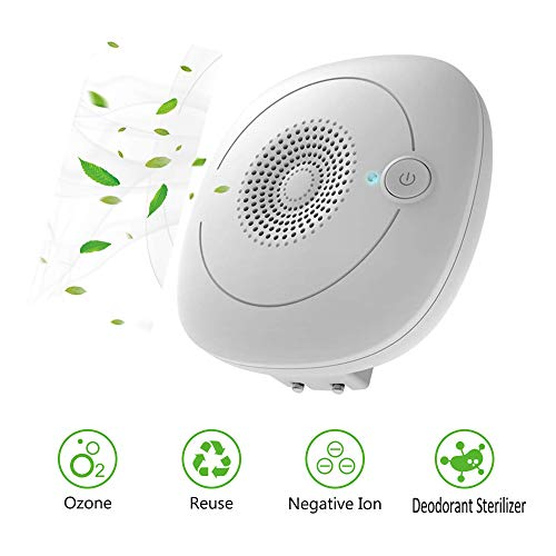 PinPle Ozone Generator Air Purifier Mini Ionic Air Cleaner Odor Eliminator Ionizer Cleaner for Household Toilet Washroom…