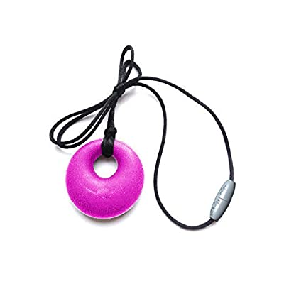 Itzy Ritzy Teething Happens Silicone Jewelry Baby Teething Pendant Necklace Circle, Pink: Baby [5Bkhe1002965]