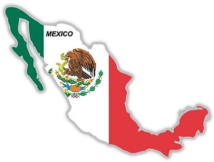 Amazon Com Mexico Map Flag Sticker Decal 5 X 4 Automotive