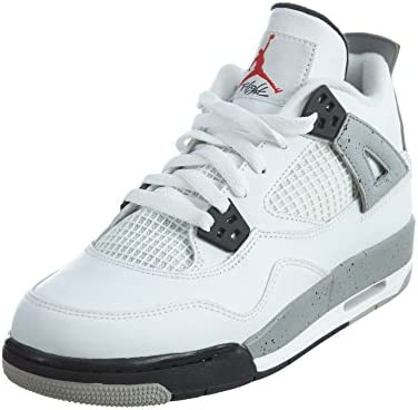cfcc491af Nike Air Jordan 4 Retro OG BG White Black Grey Red 836016-192 (Size  4.  5Y)  Buy Online at Low Prices in India - Amazon.in