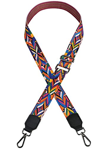 - Ayliss 52'' Purse Strap Replacement Guitar Style Crossbody Strap for Handbags (Colorful Stripes)