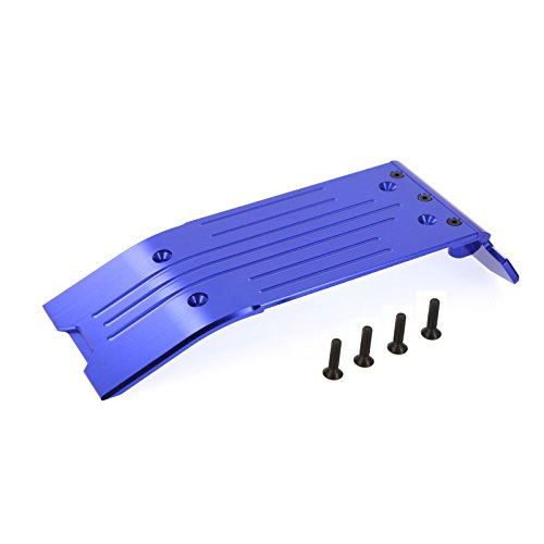 Rear Plate Maxx Skid (Traxxas X-Maxx Alloy Rear Skid plate, Blue by Atomik RC - TRX 7744)