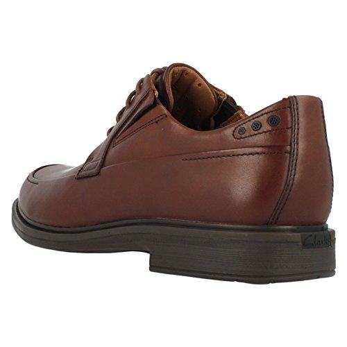 Clarks - Zapatos de cordones para hombre Marrón marrón