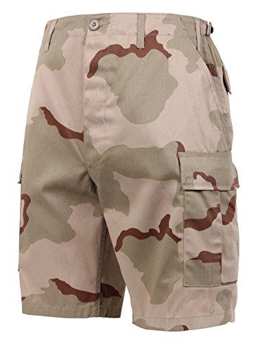 (Rothco Camo BDU Shorts, XL, Tri-Color Desert Camo)