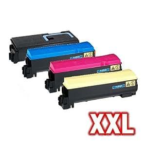 compatible XXL Kit de toner para Kyocera FS C5200 FS-C5200DN FS c5200 C5200DN TK550 TK-550 - Set De Tóner