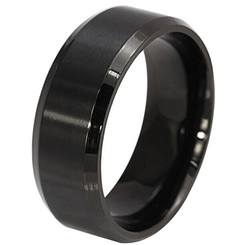 Mens+Womens+Wedding+Bands+Classic+8MM+Tungsten+Titanium+Steel+Promise+Rings+for+Him+High+Polish+Comfort+Fit+Size+6