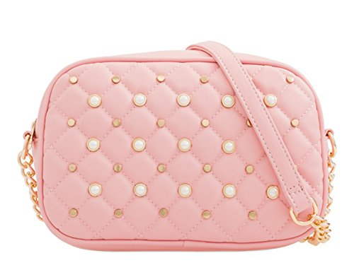 Studded Pearl Womens Handle Bags Faux Leather Party Hand Crossover Top L32 Detail Pink Ladies Dressy Messenger gWwtwTxnqB