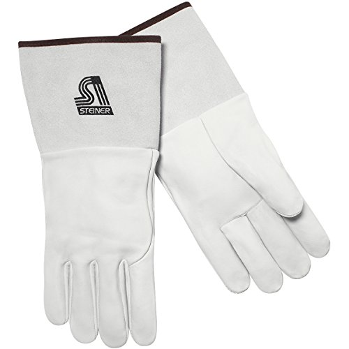 Steiner 0223-L TIG Gloves, Grain Sheepskin Unlined 4-Inch Cuff, Large by Steiner