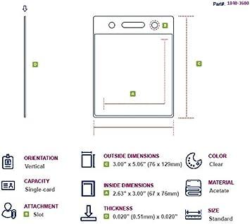 Amazon.com: Transparente Vertical estacionamiento de ...
