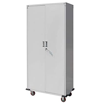 amazon com bonnlo 70 tall rolling garage storage cabinet with