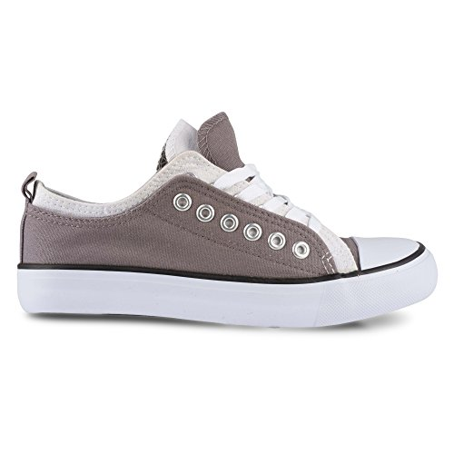 Twisted Womens KIX Lo-Top Double Upper Lace Up Fashion Sneaker Grey/White Combo wx99ofG