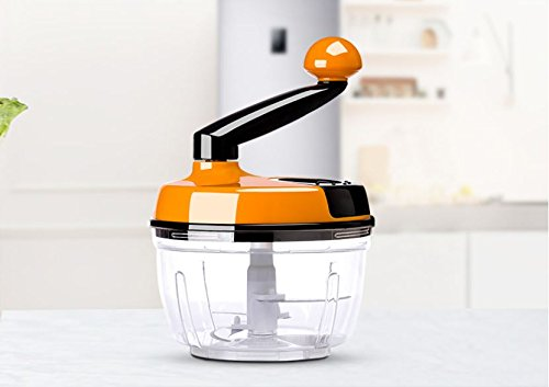 1.5 Liter Manual Food Crusher, Meat Grinder Baby Food Processor Chopper For Vegetable Fruits Celery Onions Hand-Powered Mincer Blender Mixer Processor (1.5Liter)